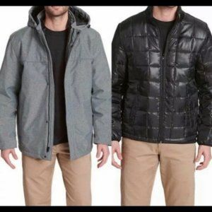 Dockers Men's 3 in 1 Hooded Shell System, Small